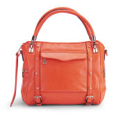 Rebecca Minkoff Cupid Leather Bowler Bag  - Orangina