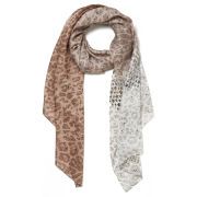 Jimmy Choo Women's Printed Light Satin Leopard Scarf - Light Pink