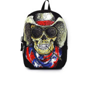 Mojo Cowboy Skull Backpack - Black/Multi