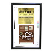 Charlie and the Chocolate Factoy Golden Ticket Framed Prop Replica