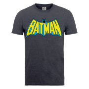 DC Comics Men's T-Shirt - Batman Retro Logo - Dark Heather