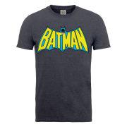 DC Comics Men's T-Shirt - Batman Retro Logo - Dark Heather
