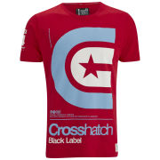Crosshatch Men's Stargaze T-Shirt - Tango Red