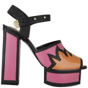 Kat Maconie Women's Liza Patent Leather Flame Heels - Magenta/Orange/Black