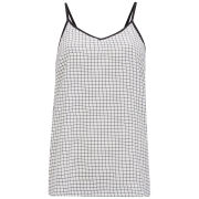 Vero Moda Women's Checked Aya Cami Top - White