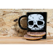 50Fifty Brew Buddies Skull Mug - Black