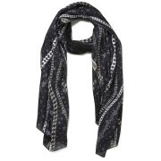 Jimmy Choo Women's Printed Chains Scarf - Black