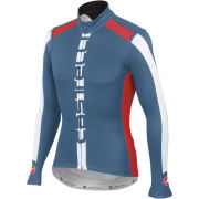 Castelli AR Long Sleeve Full Zip Jersey - Moonlight Blue/White/Red