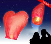 Love Heart Flying Lanterns