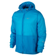 Nike Men's Printed Hurricane Jacket - Vivid Blue