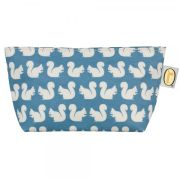 Anorak Women's Kissing Squirrels Cosmetic Bag - Teal/Blue/Cream