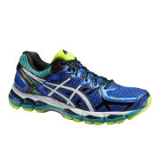 Asics Men's Gel Kayano 21 Structured Cushioning Running Shoes - Blue/White/Yellow