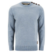 Brave Soul Men's Turgenev Twist Knitted Jumper - Blue/Grey
