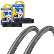Schwalbe One Folding Clincher Tyre Twin Pack with 2 Free Tubes - 700 x 23C