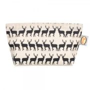 Anorak Women's Kissing Stags Cosmetic Bag - Black/Cream