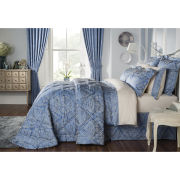 Byron Fitted Sheet - Smokey Blue