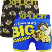 Xplicit Men's Top Bunch 2-Pack Boxers - Black/Blue