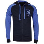 Ringspun Men's Major Hooded Sweatshirt - Navy/Cobalt