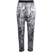 Draw In Light Women's Acid Butterfly Trackpants - Bleach On Black