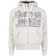 Smith & Jones Men's Forax Borg Lined Zip Through Hoody - Off White