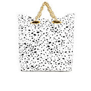 Lulu Guinness Hug and Hold Spot Candy Leather Tote Bag - Black/White