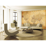 1 Wall Old Style World Map Wall Mural