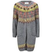 Samsoe & Samsoe Women's Kimy Long Oversized Knitted Cardigan - Grey Melange