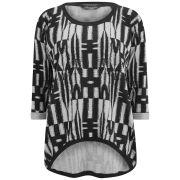 Maison Scotch Women's Silk Cotton Knitted Jumper - Multi