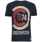 Crosshatch Men's Fazedown T-Shirt - Total Eclipse