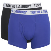 Tokyo Laundry Men's Sharpe 2-Pack Boxers - Black/True Blue