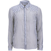 Vero Moda Women's Mini Ship Stripe Long Sleeve Shirt - Snow White