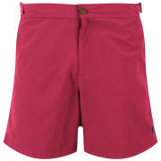 French Connection Men's Maxwell Plain Swim Shorts - Post/Eclipse