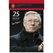 """Manchester United Sir Alex 25 Years - 10"""""""" x 8"""""""" Bagged Photographic"""