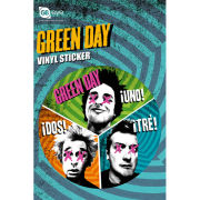 Green Day Trio - Vinyl Sticker - 10 x 15cm