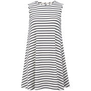 Glamorous Women's Nautical Stripe Dress - White