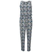 Influence Women's Floral Jumpsuit - Blue