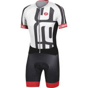 Castelli Sanremo 3.0 Short Sleeve Speed Suit - Black/White
