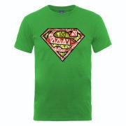 DC Comics Men's T-Shirt - Superman Cells Logo - Kelly Green
