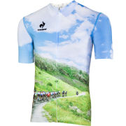 Le Coq Sportif Men's Cycling Performance Short Sleeve New Arac Jersey - Paysage