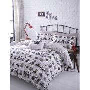 Catherine Lansfield Barking Mad Bedding Set - Multi