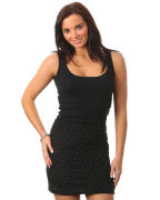 Ladies Gold Studded Skirt - Black