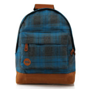 Mi-Pac Plaid Backpack - Blue