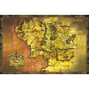 Lord Of The Rings Classic Map - Maxi Poster - 61 x 91.5cm