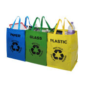 Premier Housewares Set of 3 Recycle Bags (Plastic/Glass/Paper)