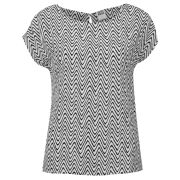 Vero Moda Women's Zigga Top - Black/ White