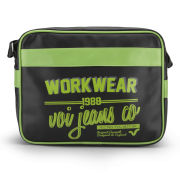 Voi Men's Worker Airliner Bag - Black/Lime