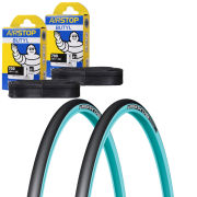 Michelin Pro 4 Race Service Course Clincher Road TyreTwin Pack with 2 Free Inner Tubes -  Blue 700c x 23mm