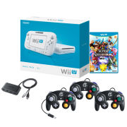 Nintendo Wii Basic With Super Smash Bros + 3 Gamecube Controllers