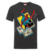 Marvel Spider-Man Block Men's T-Shirt - Charcoal