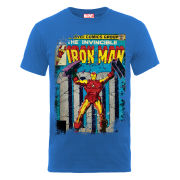 Marvel Iron Man Cover Men's T-Shirt - Blue